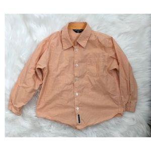 Comme Ca Du Mode Orange Shirt 5-6 Button Down